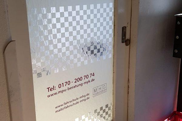 Beschriftung einer Tür