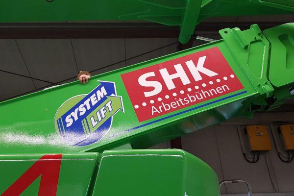 Beschrifung für SHK Arbeitsbühnen