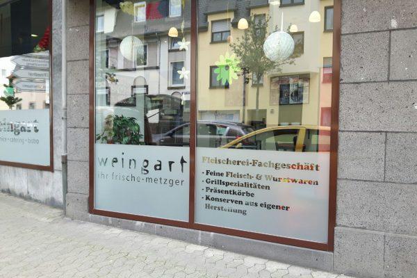 Fensterbeschriftung Restaurant