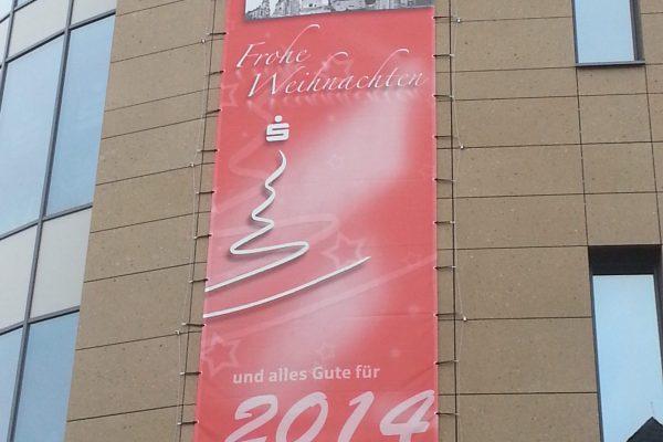 Weihnachtsgruß per Banner