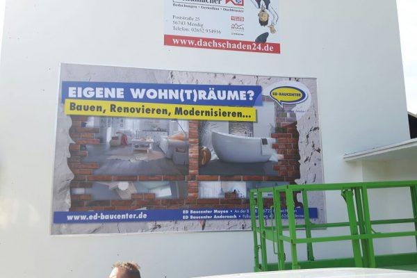 Werbebanner Bauunternehmen
